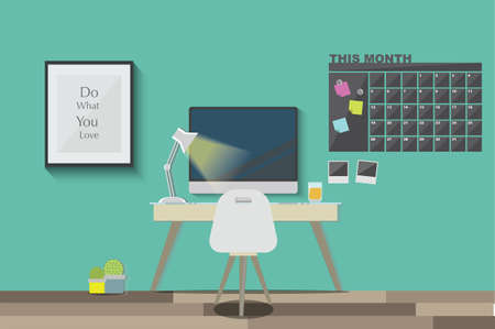 working space: work space Illustration