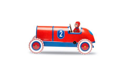 carritos de juguete: Toy Soap Box Derby Coches aislados en blanco