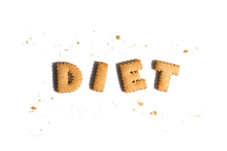 Letter Cookies,Letter cookies spelling the word Diet