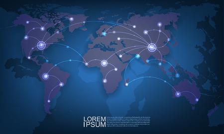 mesh: World technology mesh network Illustration
