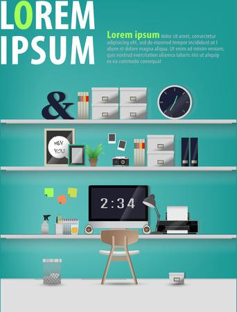 modern office: modern office interior,work space