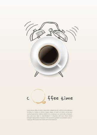 コーヒー カップ時計コンセプト デザインの背景