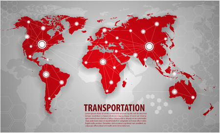 north: World transportation and logistics