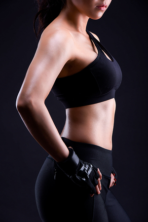 Muscular Fitness Female Banco de Imagens