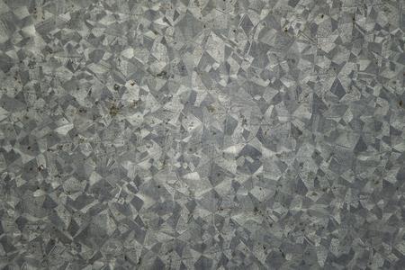 Zinkstruktur, verzinkte Stahlplatte