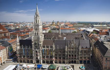 municipal: Germany Munich municipal plaza overlooking