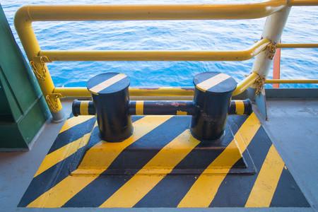 bollard: Bollard pier - device for yacht mooring, Black Sea,Odessa,Ukraine