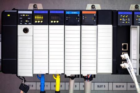 plc: PLC programable logic controler, PLC computer Stock Photo