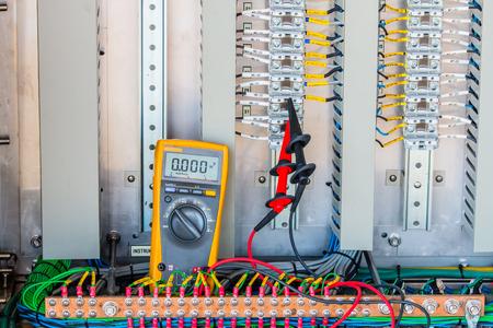 plc: Voltage 24 Vdc Measurement connectivity at terminal of Electrical control panel,terminal ,Voltage measurement