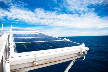 gas supply: Solar cell panels in offshore oil and gas supply power to process control systems