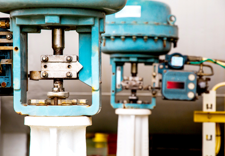 inoperative: Control valve or pressure regulator in oil and gas process, The control valve used to controlled pressure in the system as Controller command, Oil and gas industry use to controlled the system.