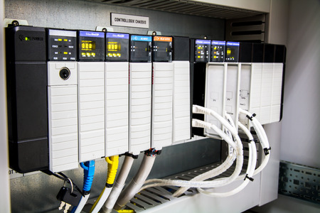 De PLC Computer, PLC programmeerbare logica controler, Stockfoto - 67410123