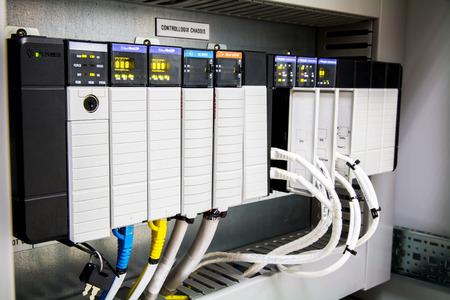 The PLC Computer,PLC programable logic controler, Foto de archivo