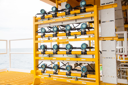 Temperature transmitter in oil and gas process platform to monitor temperature of gas and oil wells .