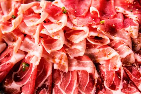 raw slice pork   for shabu