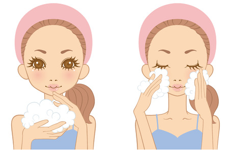 cleansing: Women washing your face