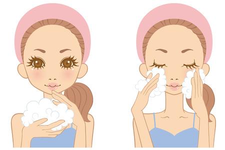washing face: Women washing your face