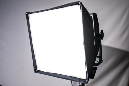 Softbox Film Light on C-Stand Stock Photo