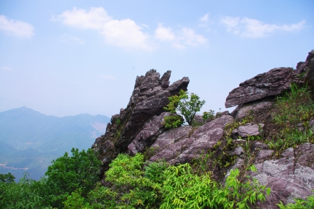 rocks on the mountaintop of chinese Nanning ridge Stock Photo - 16952071