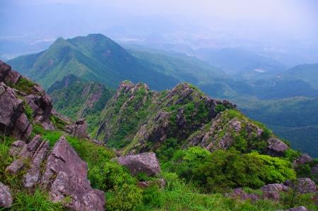 rocks on the mountaintop of chinese Nanning ridge