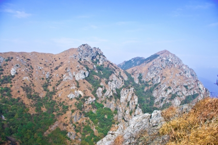mountainside of the high mountain at Guangdong ridge of china Stock Photo - 16952740