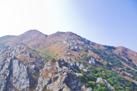mountainside of the high mountain at Guangdong ridge of china