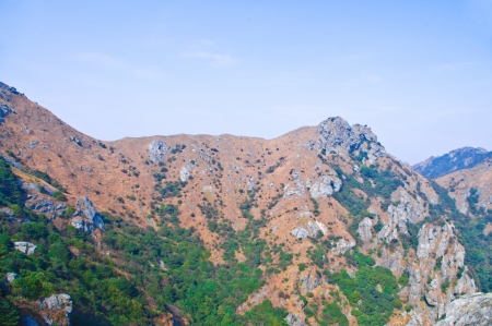 mountainside of the high mountain at Guangdong ridge of china photo