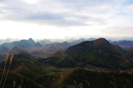 travel at karst landform of south chinese pro Guangdong photo