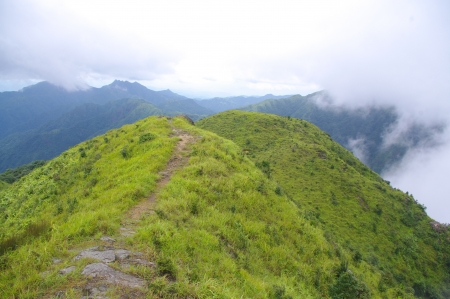 ridge of high mountain at south china Banco de Imagens