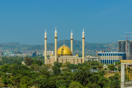 Daytime View of The National Mosque, F.C.T., Abuja, Nigeria
