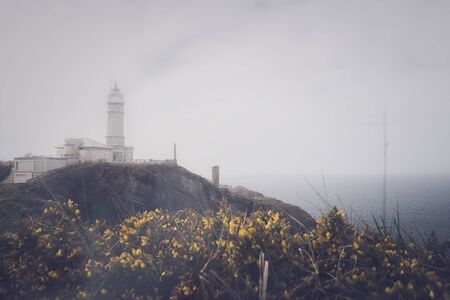 Lighthouse of Cabo Penas. This is in Asturias located north of Spain. Stockfoto