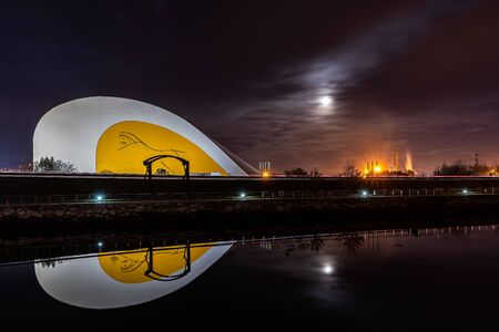 Building of Oscar Niemeyer in Aviles, Asturias
