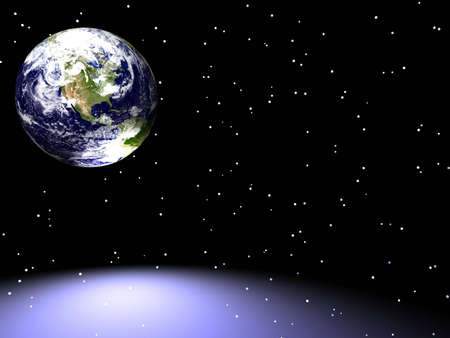 united stated: Earth in Space Stock Photo