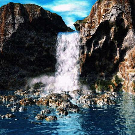 Waterfalll Paradise Stock fotó