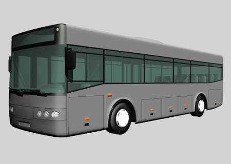 3D Bus Reklamní fotografie