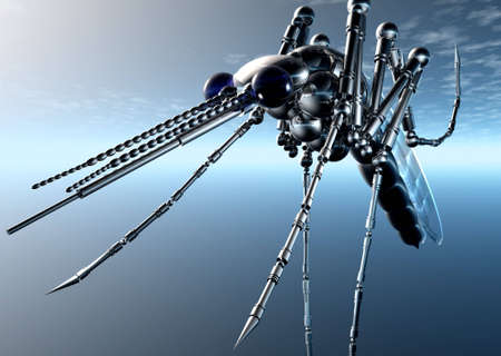 cybernetic: 3D Cybernetic Bug Stock Photo