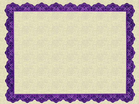 scroll border: Blank Certificate Frame