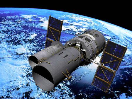 t�lescopes: Space satellite  t�lescope en orbite
