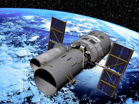Espace satellite en orbite  Banque d'images - 3503676
