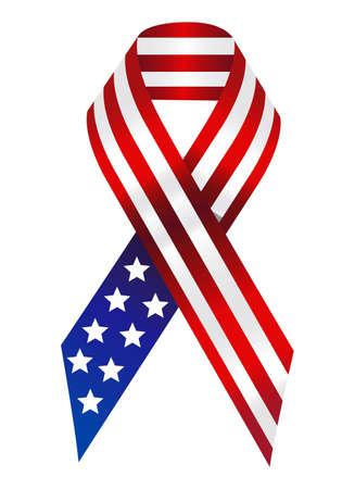America Flag Ribbon Фото со стока - 3503671