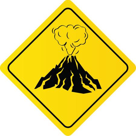Volcano Eruption Warning Sign