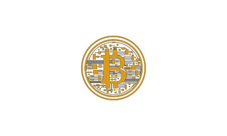 Bronze or copper bitcoin the crypto currency virtual money on internet communication