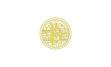 Golden bitcoin the crypto currency virtual money on internet communication