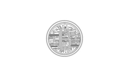 Silver bitcoin the crypto currency virtual money on internet communication