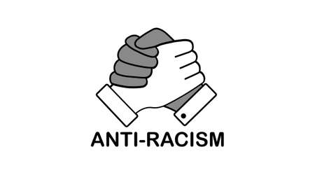 Homie Handshakes anti-racism vector symbol of peace and equality isolated on white background  イラスト・ベクター素材