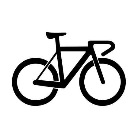 Bicycle flat icon isolated on white background, concept of road race, eco-friendly and healthy