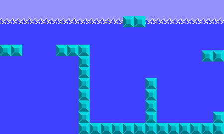 Illustration imitate scene of famous old arcade video game, the retro styled of screenshot familiar underwater level background