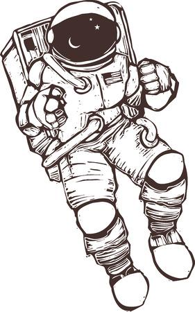 Astronaute aux États-Unis portant une combinaison spatiale.