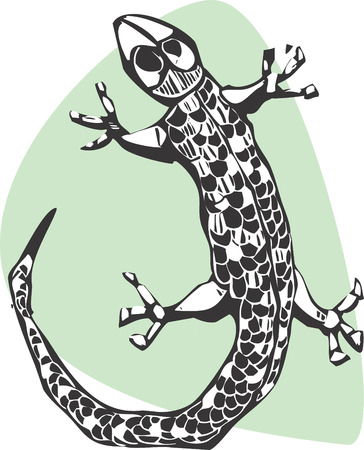 A simple lizard done in a woodcut style. Stock Vector - 4689537