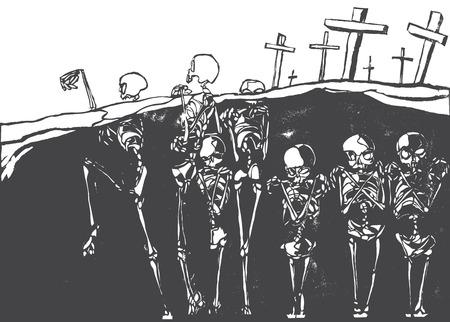lithograph: Dancing Dead
